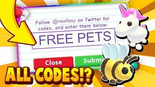ALL ADOPT ME CODES! 2021 IN ROBLOX! - Trying Roblox Adopt Me Promo Codes