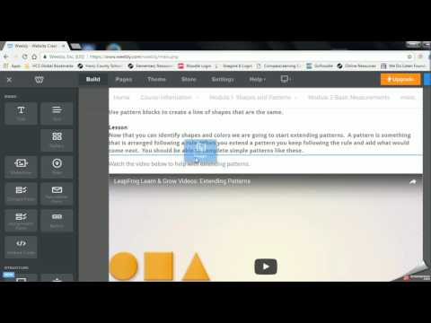 How to upload an image on Weebly
