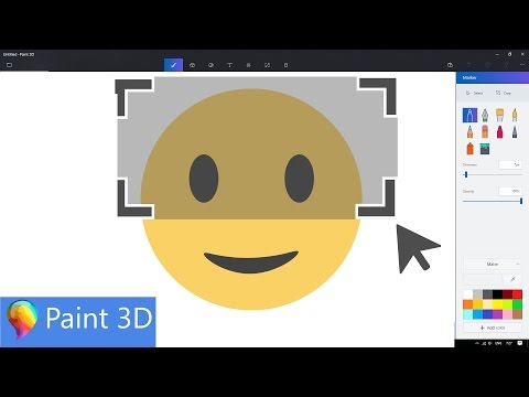How to Crop Images in Microsoft Paint 3D