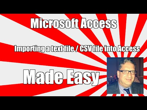 How to Import a text file / CSV into Access - Access 2007, 2010, 2013, 2016 Tutorial