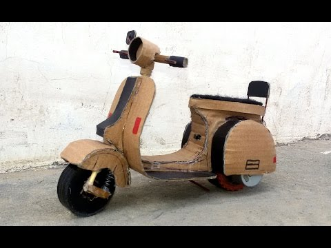 WOW! Supper Vespa Scooter - 3+3 Battery Vespa Motorbike || How to make  Motorcycle with carboard