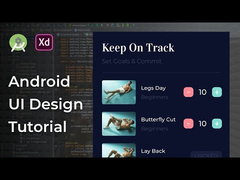 Fitness Add Workout Adobe Xd to Android Studio Tutorial