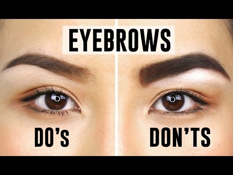 10 COMMON EYEBROW MISTAKES YOU COULD BE MAKING | Do's and Dont's