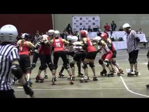 2014 World Cup Semi Final Canada vs England Blood & Thunder Roller Derby World Cup Dallas