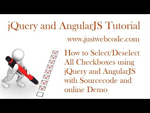 How to Select/Deselect all checkboxes with jQuery and AngularJS (sourcecode explained)
