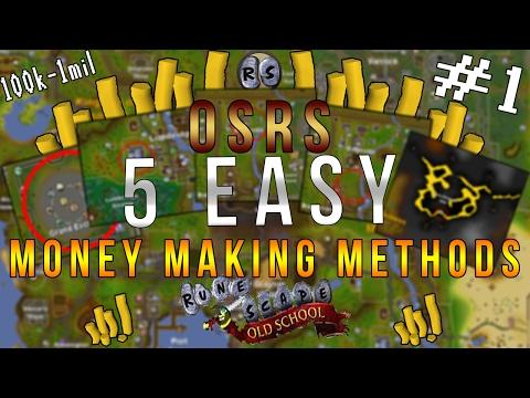 OLD SCHOOL RUNESCAPE #1: Easy Money Making Guide! [100k-1mil] 2017