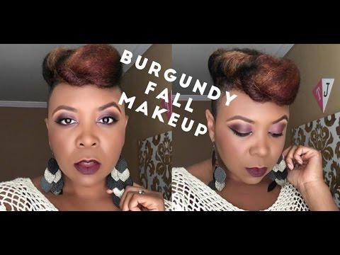Monochromatic Burgundy Fall Makeup Look