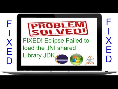 !!!Solved!!! Eclipse Failed to load the JNI shared Library JDK