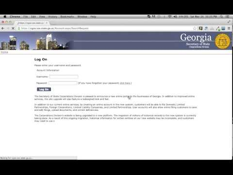 Georgia Secretary of State Business Search