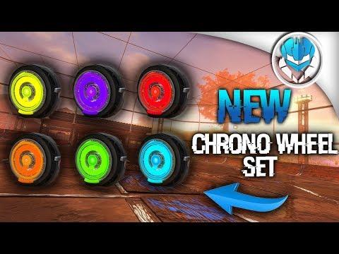 Rocket League New Chrono Wheels Painted Set Showcase (Photoshoped)