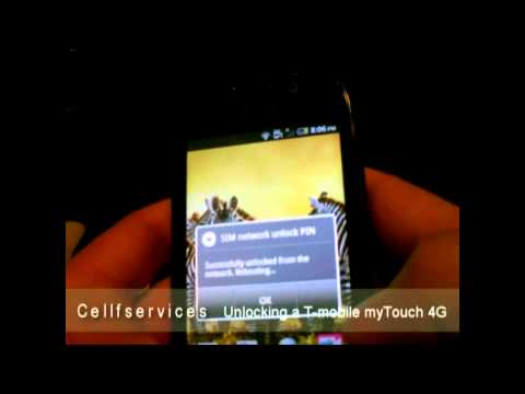 How to Unlock T-mobile myTouch 4G (HTC) with unlock Code to use on ALL Carriers