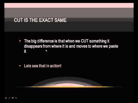How to Cut Copy and Paste.wmv