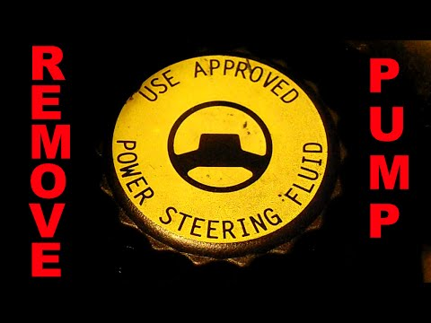 change POWER STEERING Pump Removal Part 1 how to fix Leaks 5.9 Liter V8 Chrysler Dodge Jeep Ram cars