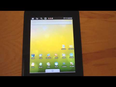 Cruz Reader Review with Kindle App and Android 2.0 (T301)