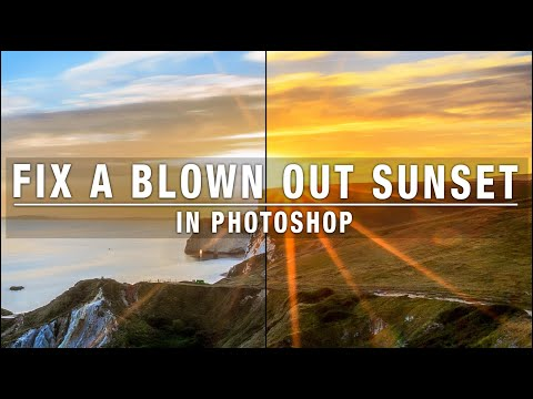 Fix a blown out sunset in Photoshop
