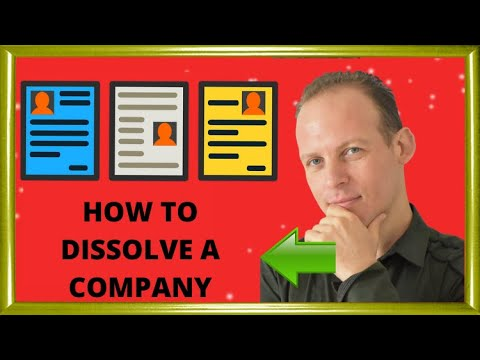 How to dissolve the company