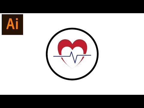 Draw a Heart Pulse icon in Adobe illustrator CC 2017