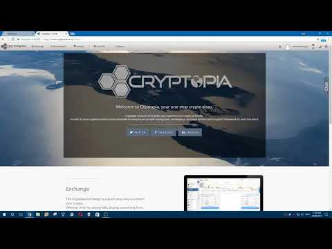 Cryptopia Tutorial -  Deposits and Withdrawals