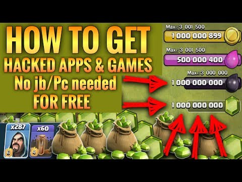 How to get hacked apps/games for free no jailbreak or computer needed!