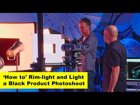 'How To'  Rim-light and light a black product shot
