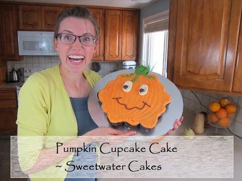 How to make a PUMPKIN CUPCAKE CAKE ~ Sweetwater Cakes