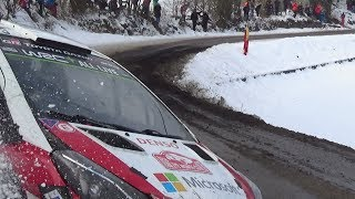 Rallye Monte Carlo 2018 day 3 ES 11 crash Lappi  and crash camera