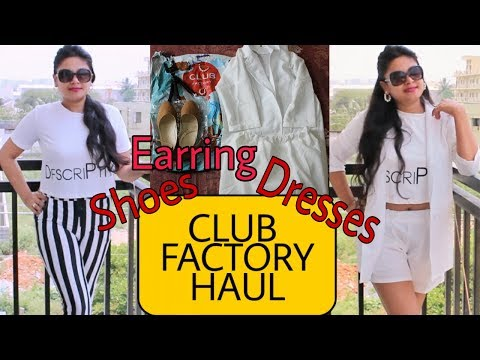 CLUB FACTORY HAUL & REVIEW   FREE SHIPPING SHOES DRESS   AFFORDABLE INDIAN ONLINE SHOPPING