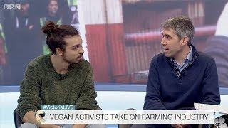 Vegan VS Dairy Farmer (Live BBC Debate)