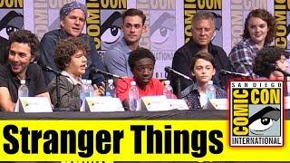 STRANGER THINGS   Comic Con 2017 Full Panel (Natalia Dyer, Joe Keery, Millie Bobby Brown)