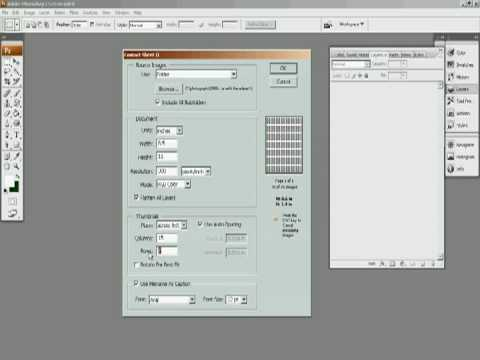 Making a contact sheet In Adobe Photoshop CS3