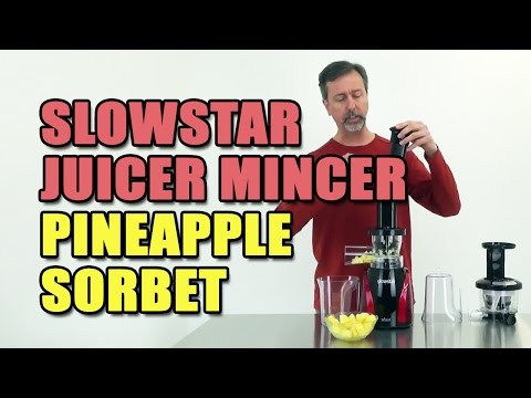 Slowstar Juicer Mincer Pineapple Sorbet