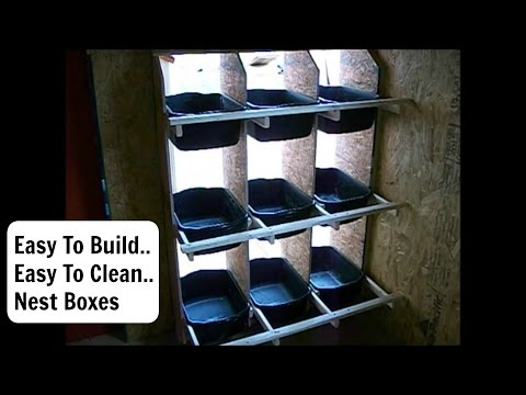 How To Build  Chicken Nest Boxes