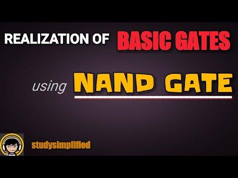 Realization of logic gates using NAND gate