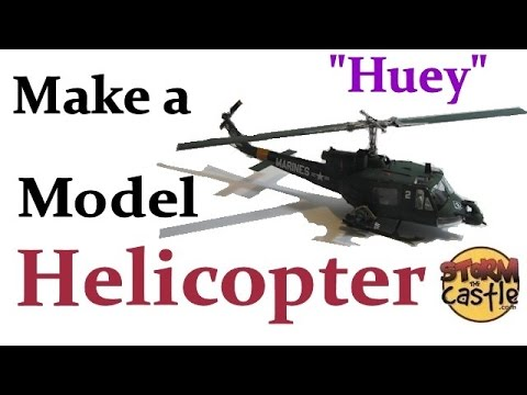 Make a Plastic Model Helicopter Revell Huey 1 48 scale