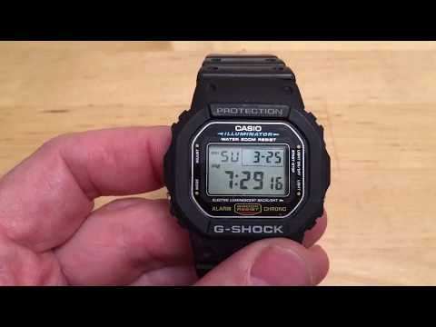 How to set the time on a G-Shock Watch