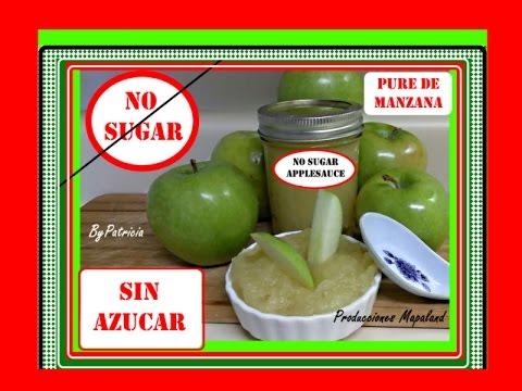 Pure de Manzana SIN AZUCAR NI QUIMICOS NO SUGAR APPLESAUCE