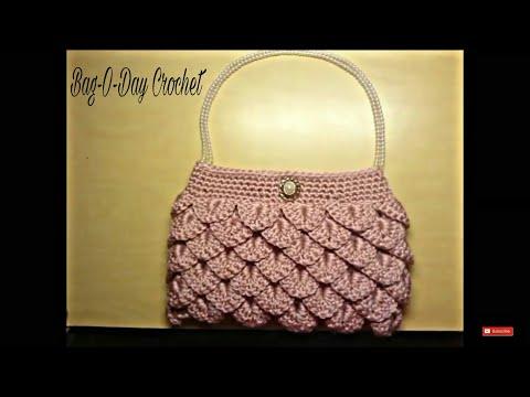 Crochet How To #Crochet crocodile stitch clutch purse Tutorial #5 LEARN CROCHET