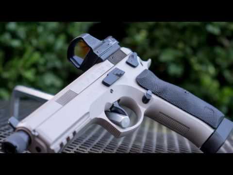 CZ75 SP 01 Tactical with DeltaPoint Pro Red Dot Sight (in 4k)