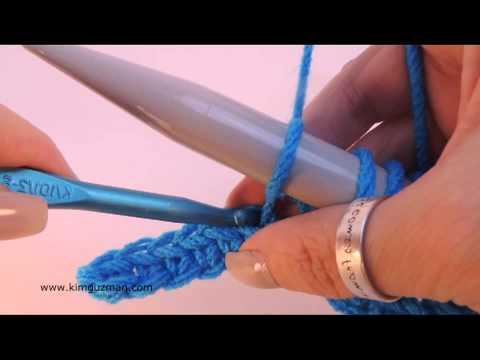 Crochet: Learn Drop Stitch Crochet (Left Handed)