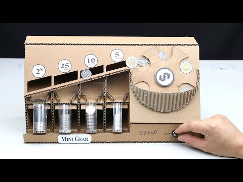 How to Make Coin Sorting Machine from Cardboard