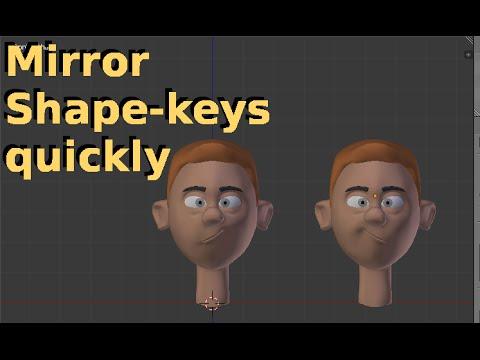 Tip: Mirror Shape Keys in Blender