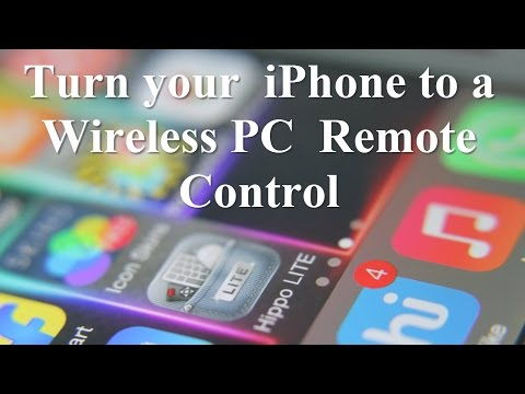 Turn your iPhone to a Wireless PC Remote Control