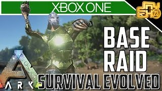 ARK XBOX ONE RAID - OFFICIAL PVP SERVERS! (RAIDING AND PVP TIPS)