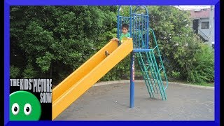 How to Play on a Slide 2 - Life Instructions - Playground - Video Modeling - The Kids