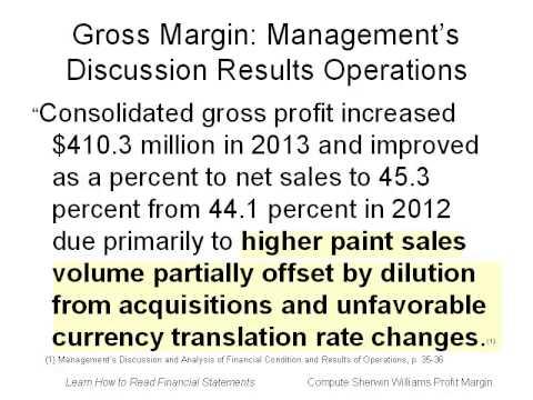 #3 Compute Profit Margin (Return on Sales)
