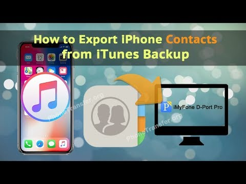 How to Export iPhone Contacts from iTunes Backup