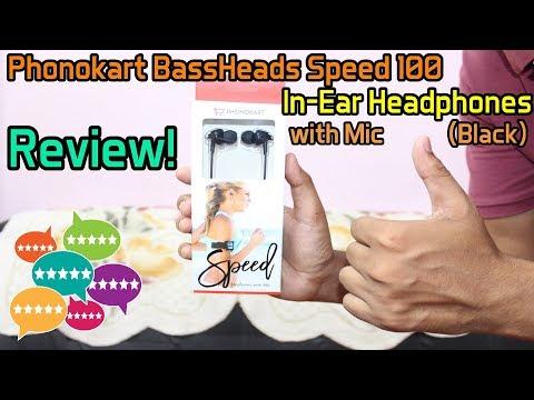 Phonokart BassHeads Speed 100 In-Ear Headphones with Mic (Black) | Review