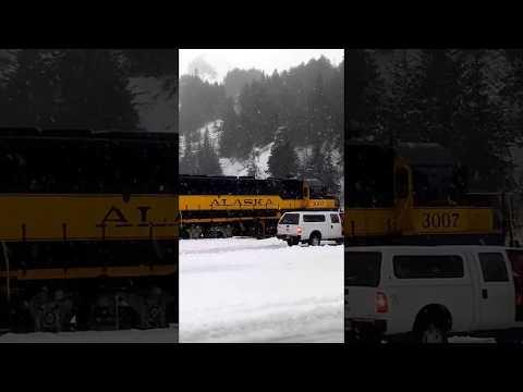 Alaska Railroad hop at the Whittier rail tunnel