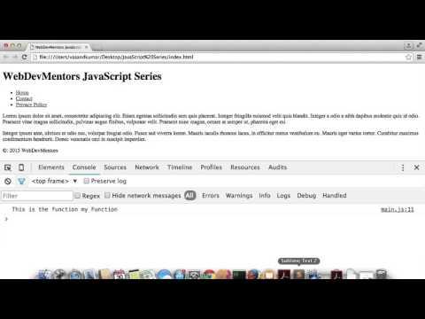 Creating Function in Javascript