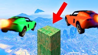 LAND ON THE IMPOSSIBLE PLATFORM CHALLENGE! (GTA 5 Funny Moments)
